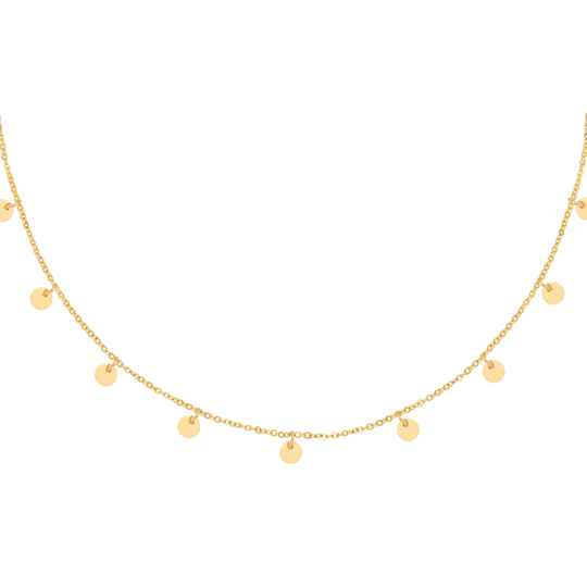 Tiny Coins Necklace - gold