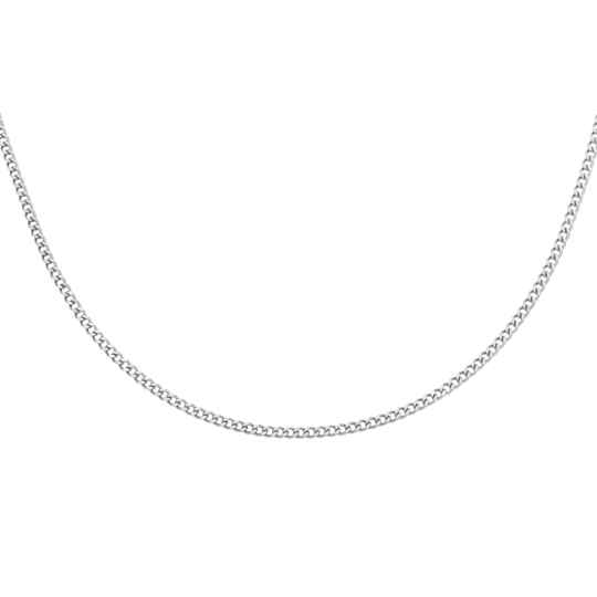 Tiny Chain Necklace - silver