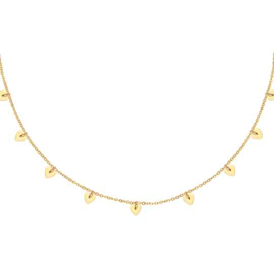 Tiny Hearts Necklace - gold