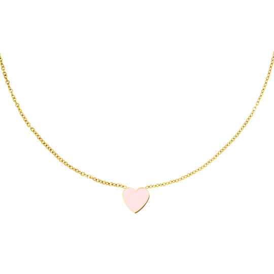 Lots Of Love Necklace Pastel Pink - gold