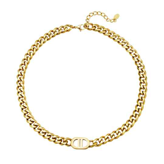 Inspired Chain Necklace - gold