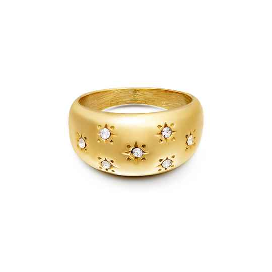 Diamond Stars Ring - gold