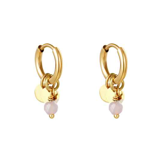 Jelly Bean Pink Earrings - gold