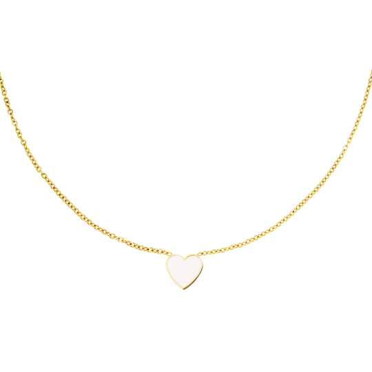 Lots Of Love Necklace Pastel White - gold
