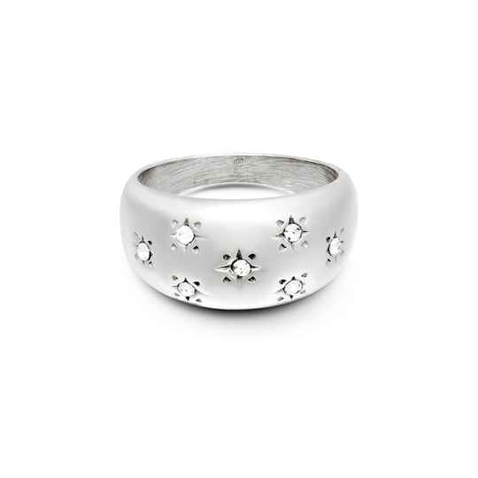 Diamond Stars Ring - silver