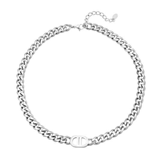 Inspired Chain Necklace - silver