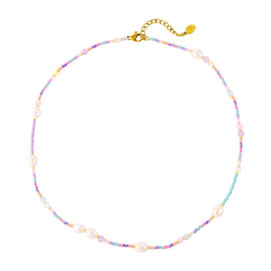 Pearl Pastel Necklace - gold