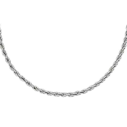 Twisted Chain Necklace - silver
