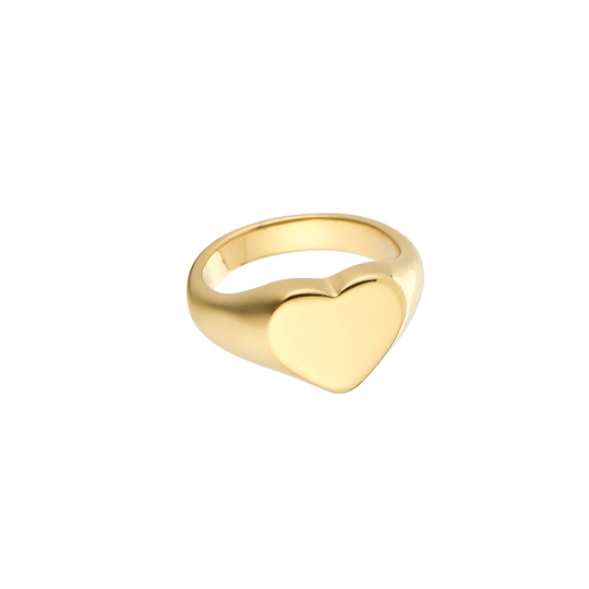Heart Bold Ring - gold