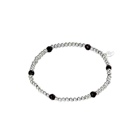 Black Diamonds Bracelet - silver
