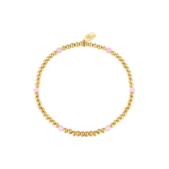 Pink Diamonds Bracelet - gold