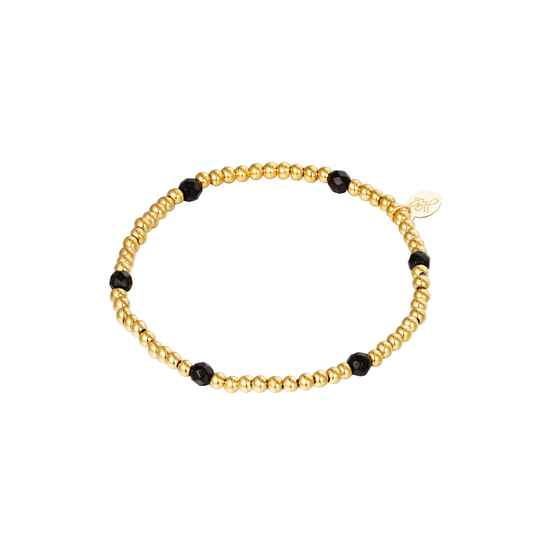 Black Diamonds Bracelet - gold