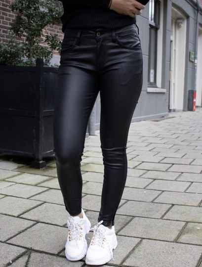 Nooa - Queen Hearts Skinny Jeans Leather Look