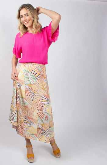 Nooa - Transfer Printed Long Skirt Lange Rok