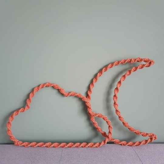 Do It Yourself (DIY) Macrame wolk en/of maan