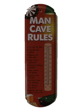 Mancave Rules thermometer