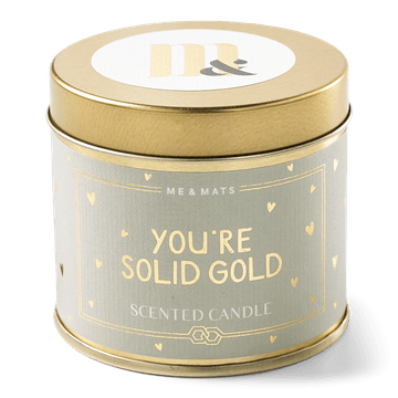 Tin scented candle - Solid Gold