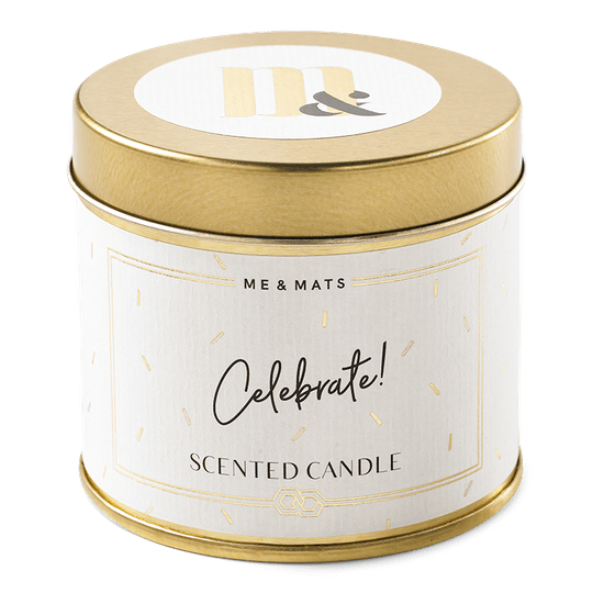 Tin scented candle - Celebrate!