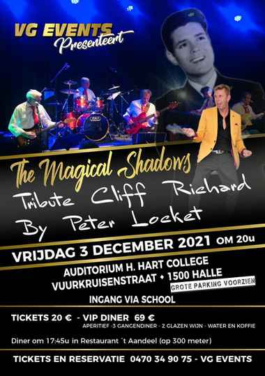 THE MAGICAL SHADOWS - TRIBUTE CLIFF RICHARD  BY PETER LOCKET - OLDIES SHOW   3/12/2021