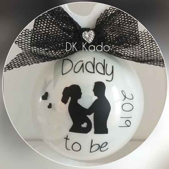 Kerstbal daddy to be