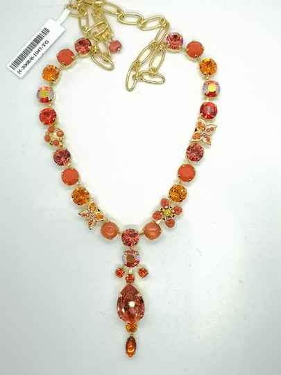 Silk Road / Saffron Necklace N-3068/6-1047-YG