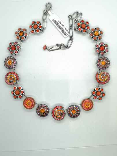 Silk Road / Saffron Necklace N-3079/1-1047-SP