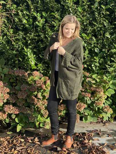 Knitted Cardigan Olive