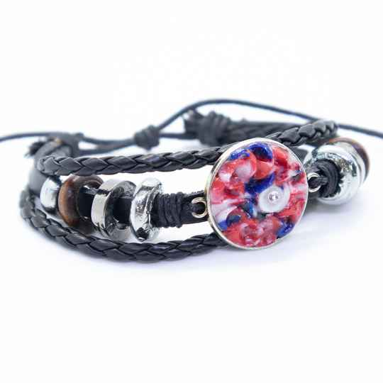 Armband, leer - Multi layer leather bracelet