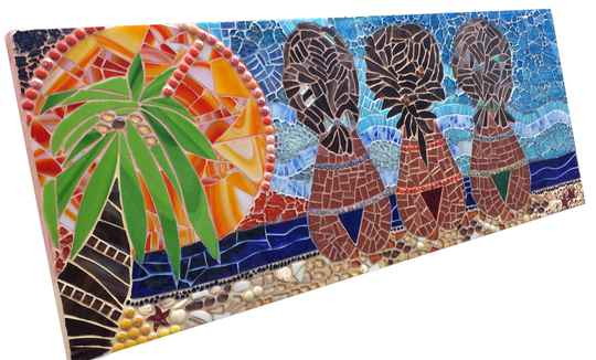 Caribbean Sunset - glasmozaïek/glass mosaic