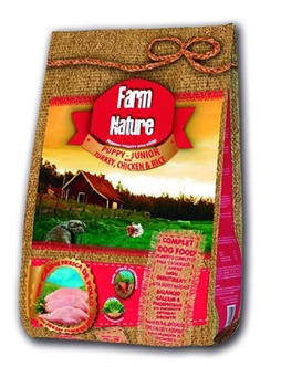 FARM NATURE PUPPY TURKEY / CHICKEN / RICE 2,5KG / 12.5Kg / 18KG