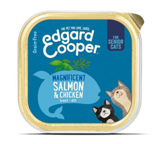 EDGARD & COOPER CAT KIP & ZALM SENIOR 85GR