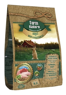 FARM NATURE BEEF / VEGETABLES 2.5KG / 12.5KG / 18KG
