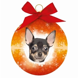 PLENTY GIFTS KERSTBAL CHIHUAHUA HOND 8 CM