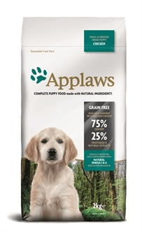 APPLAWS DOG PUPPY SMALL / MEDIUM CHICKEN 2 KG