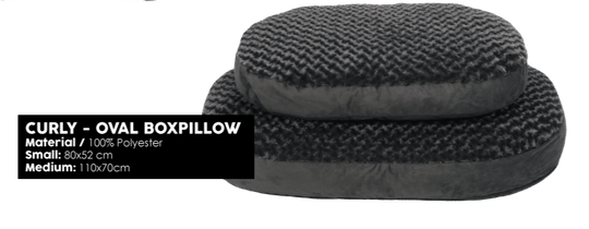 51 DEGREES NORTH CURLY MAND OVAL BOXPILLOW S / L