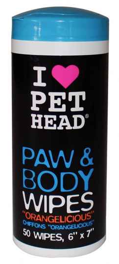 PET HEAD MY PAWS ROCK PAW & BODY WIPES 50 STUKS