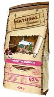 NATURAL GREATNESS SENSITIVE INDOOR HYPO ALLERGEEN GRAANVRIJ 600 GR 2KG 6KG