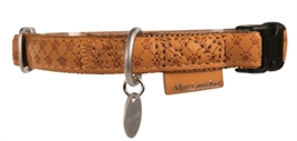 MACLEATHER HALSBAND BRUIN 15MM / 20MM X 25MM