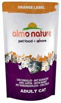 ALMO NATURE CAT DROOG ORANGE LABEL KONIJN 750 GR