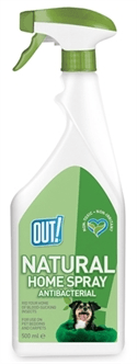 OUT! NATURAL HOME SPRAY ANTIBACTERIAL 500 ML