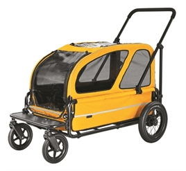 AIRBUGGY HONDENBUGGY CARRIAGE BERRY ROOD / GEEL / BLAUW