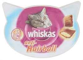 WHISKAS SNACK HAIRBALL VLEES 60 GR