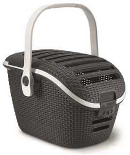 CURVER CAT CARRIER ROTANSTIJL ANTRACIET OF MOCCA 51 X 38 X 33CM
