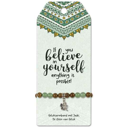 Armband Jade - Believe in Yourself