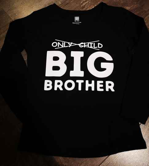 Shirt - Only Child, Big Brother