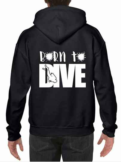Hoodie Born to dive