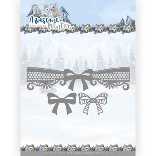 ADD10254 Awesome Winter - Winter Lace Bow