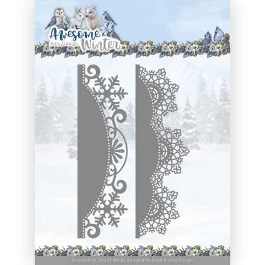 ADD10255 Awesome Winter - Winter Lace Border