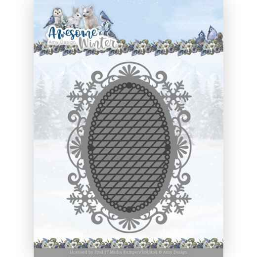 ADD10253 Awesome Winter - Winter Lace Oval