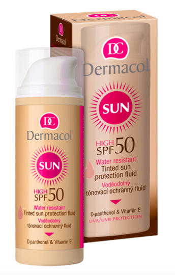Water resistant tinted sun protection fluid SPF 50 - 50 ml